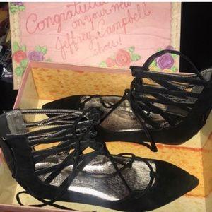 Jeffrey Campbell Tie Ballerina Flats